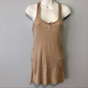 Splendid Razorback tan ribbed small tank